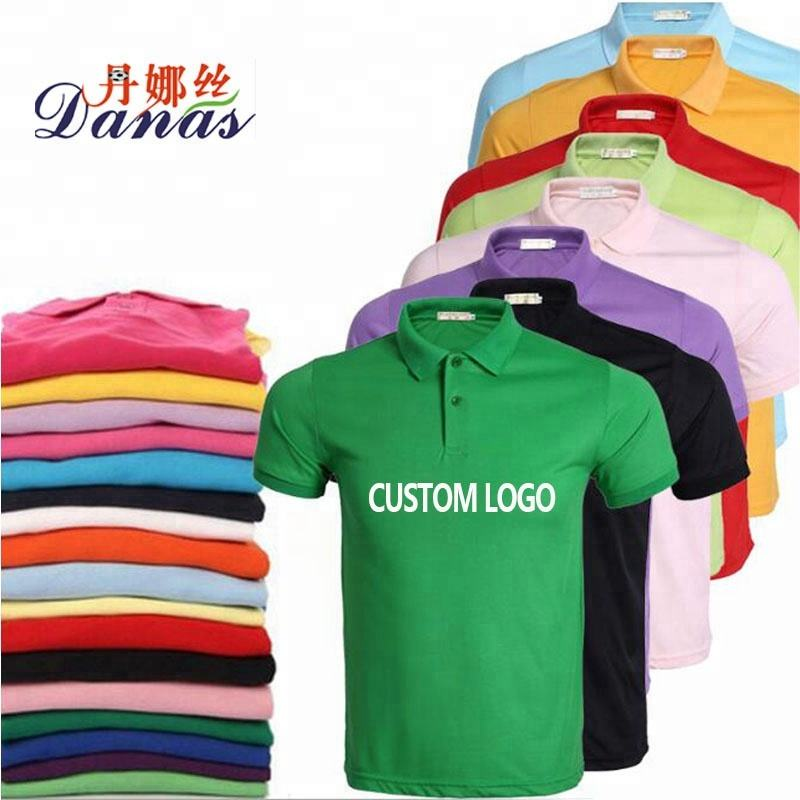 Hot Sell New Design OEM Service Customize Logo Plain Polo T Shirt
