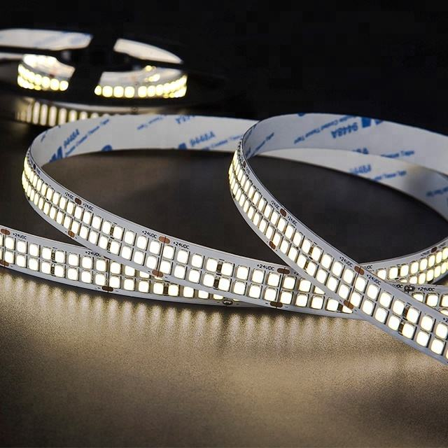 High Efficiency Lumen 480led Double Row Tira De Luces Remote Control SMD 2835 Waterproof LED Strip Light