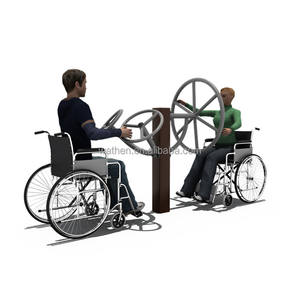 High quality outdoor double sided gym equipment for disabled person
