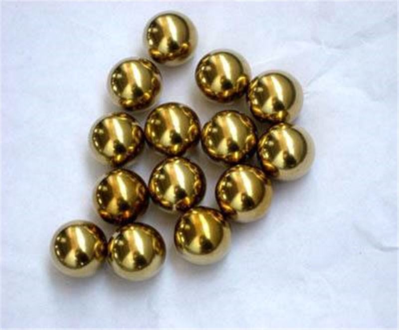 Solid brass ball 25.5mm through hole 2.5mm flat bottom 25.4mm spherical