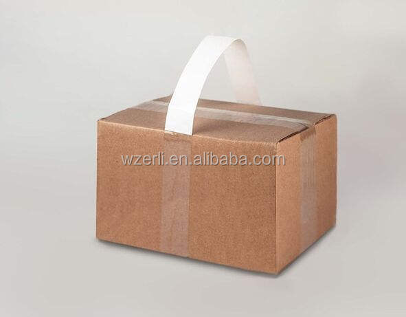 self-adhesive carry tape in white color