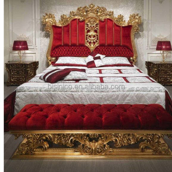 European Italy Style Bright Color Royal Wedding Bedroom Furniture Set, Luxury Designed Marvelous Palace Bedroom Set