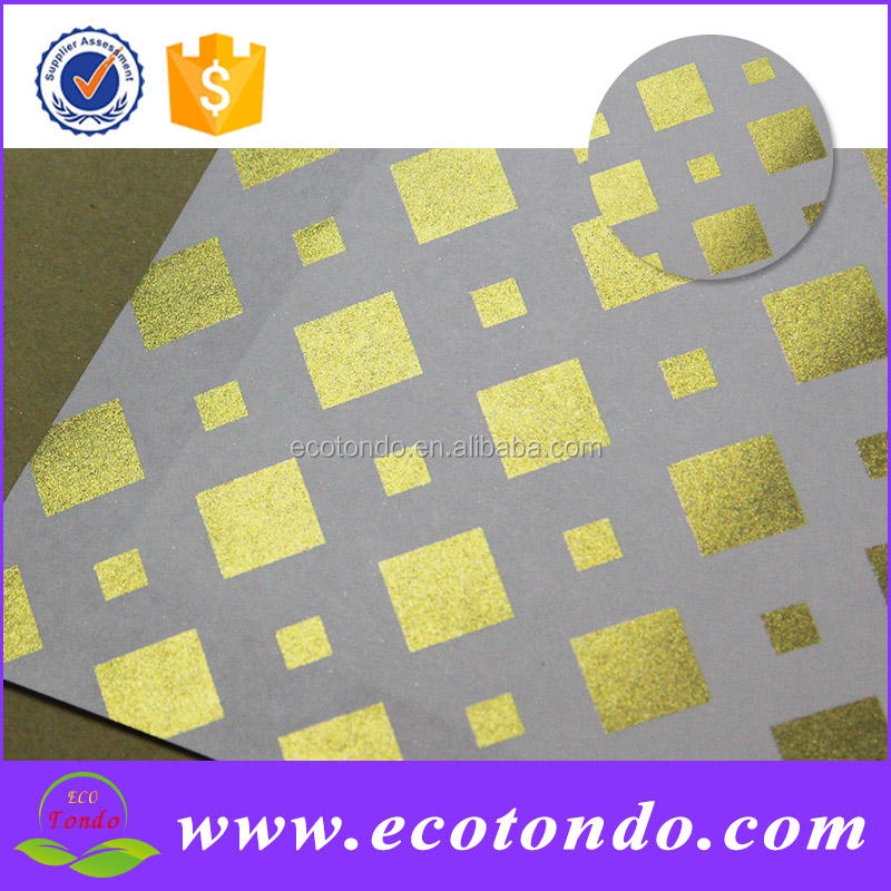 Golden stampa carta da pacchi per i regali decorazione <span class=keywords><strong>wrapper</strong></span>