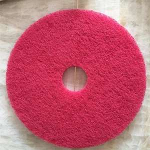Customized round abrasive floor scrubber pads for cleaning