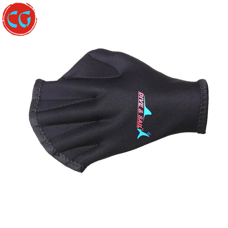 Helping Upper Body Resistance Aquatic Gloves Well Stitching Webbed Swim Gloves
