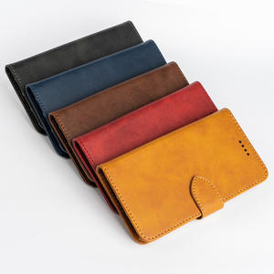 Case Cell Phone Leather Wallet Case with Magnetic Snap for Sony Xperia XZ3