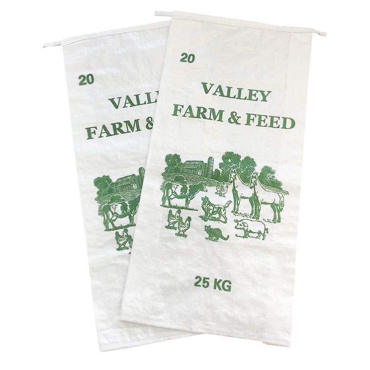 EGP 25kg china customized farm feed pp woven bag easy open top woven bag