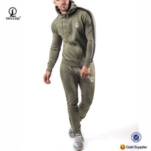 Custom logo aesthetics plain tracksuit soft slim fit mens tracksuit from china factory