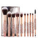 2020 Luxury Gold Rhinestone Beauty Needs 10pcs Makeup Brush Set