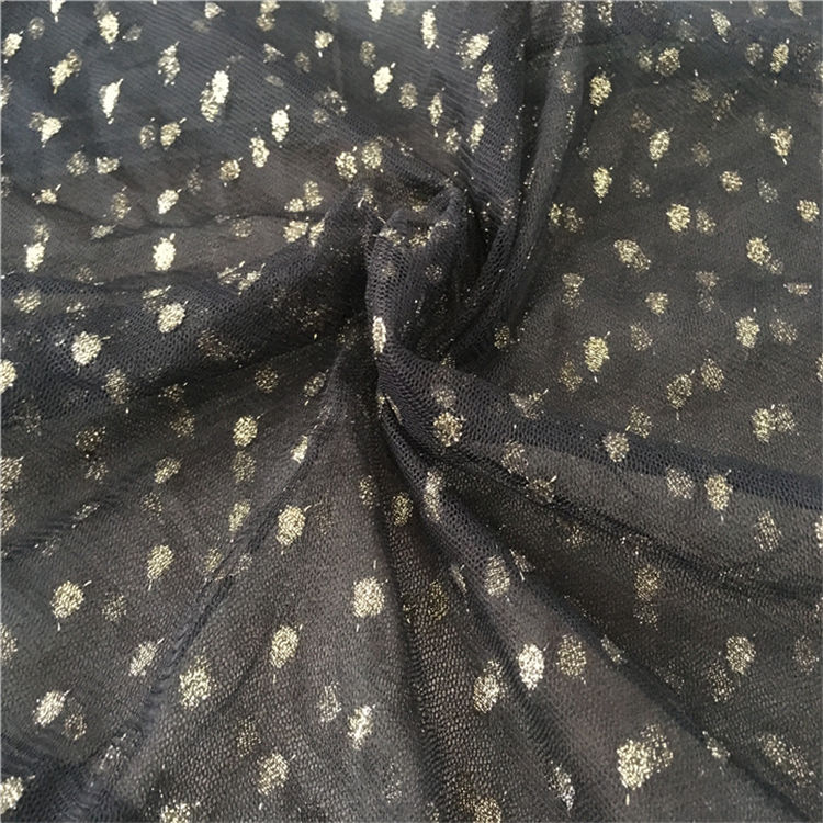 Fashion Designs Jacquard Polka Dot Mesh Wedding Tulle Fabric