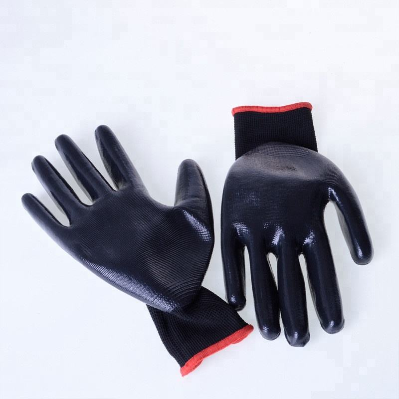 gloves jersey coated nitrile