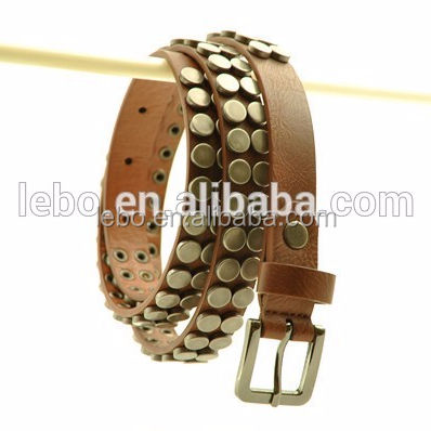 Women studded leather belt rhinestone belt women