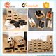 Thick push out drawer kraft paper shoe box for leather shoes