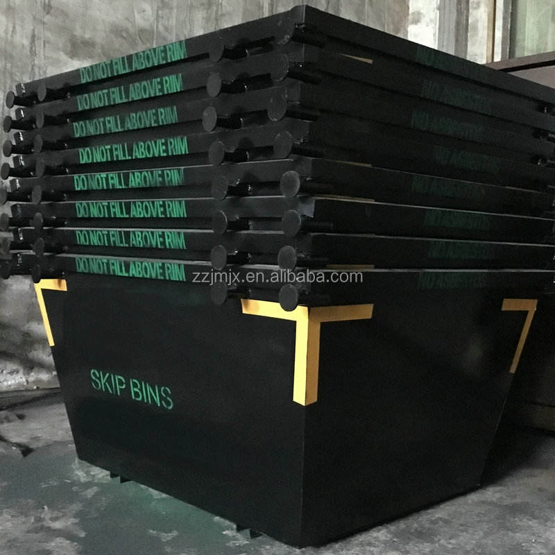 Waste recycling skip bins in Q235 steel material top quality with factory price