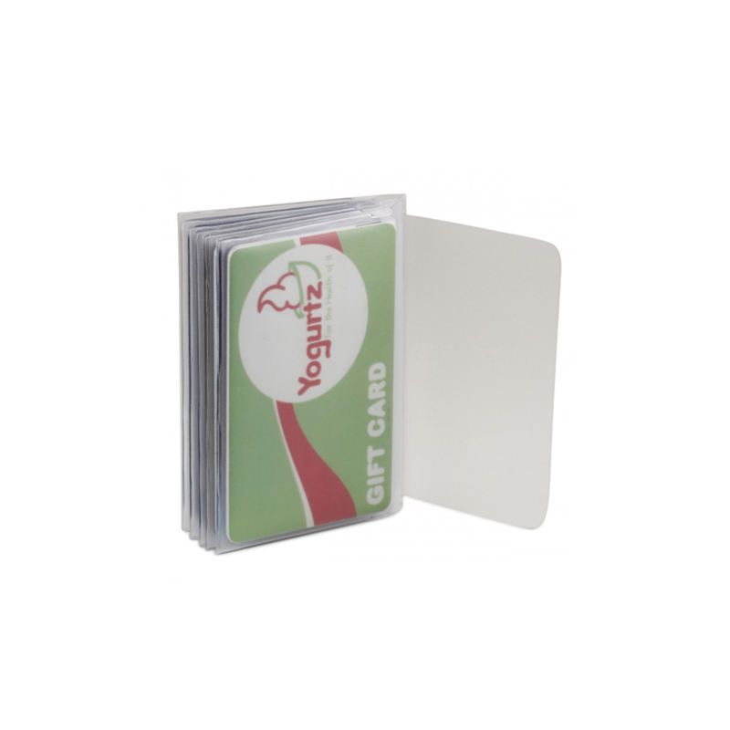 (High) 저 (Quality Clear Plastic Card Holder 지갑 Inserts 삼단 6 Page Credit Card Size