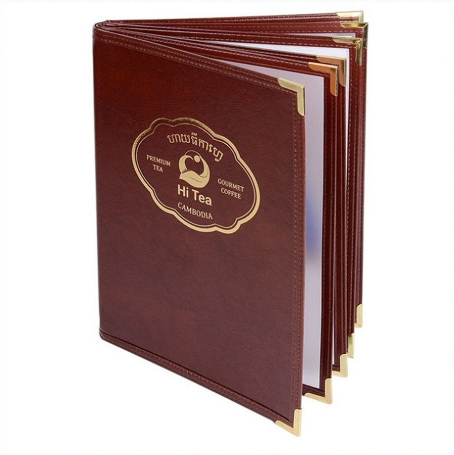 New design Restaurant Menu Holder Cover PU leather Menu folder