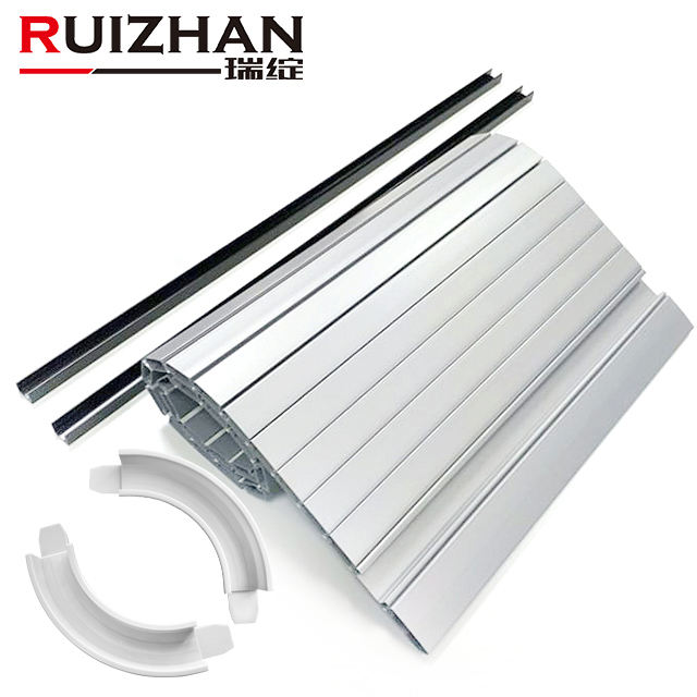 Ruizhan Customized Plastic Extrusion Profiles PVC ABS Clear Cabinet Tambour Rolling Up Shutter Doors For Furniture