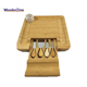China Wholesale 2019 Hot Selling Organic Bamboo Cheese Cutting Chopping Board Set With Cup Holder