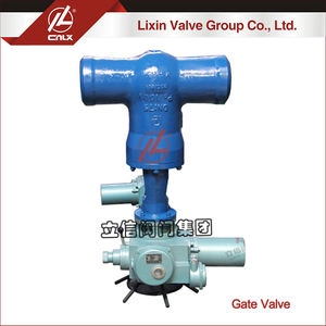 Electric motor operated high temperature high pressure power station butt weld gate valve