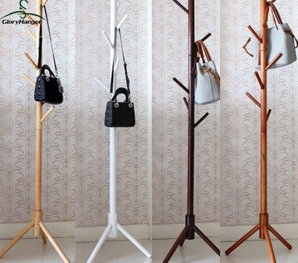 Amazon Hot Sale Wooden Coat Hanger Rack Stand Multi Function Coat Tree Buy Coat Tree Coat Hanger Rack Coat Hanger Stand Product On Alibaba Com