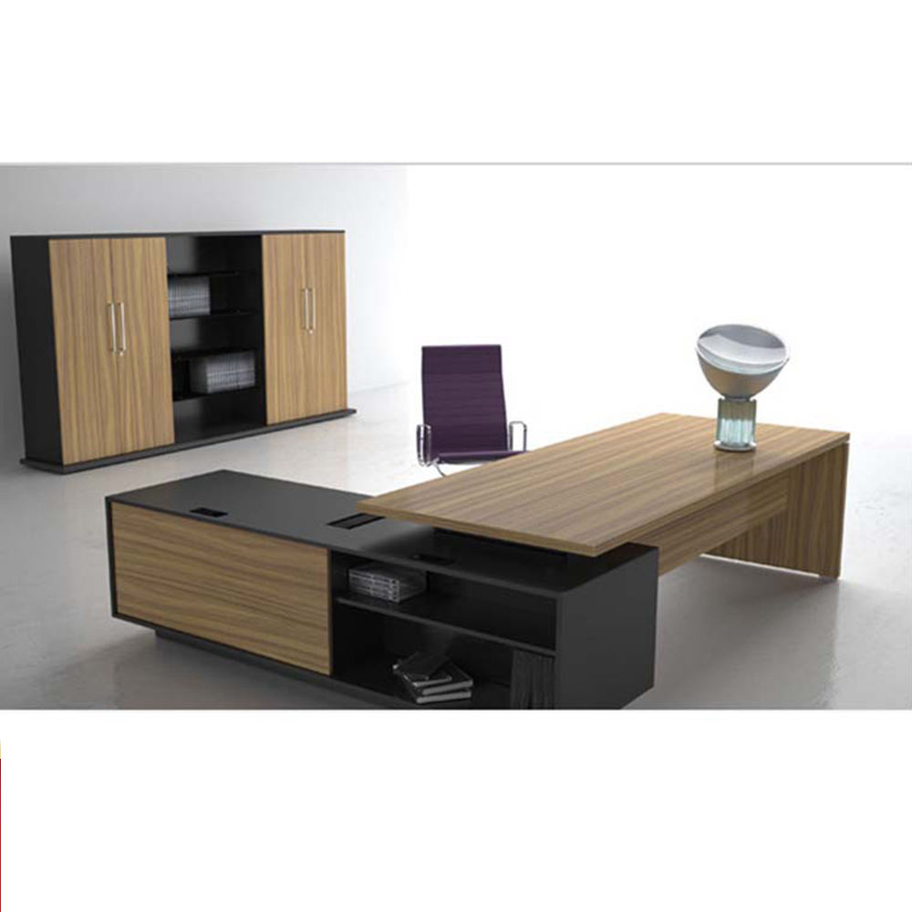 Popular officedesks simple Wooden office furniture office+desks luxury modern ceo manager high quality Office Desk for 1 Person