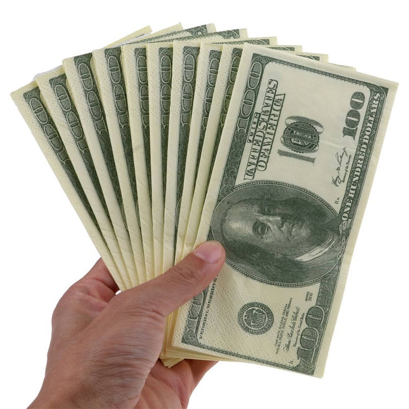 Factory Wholesale Money Dollar Printed Tissue Paper