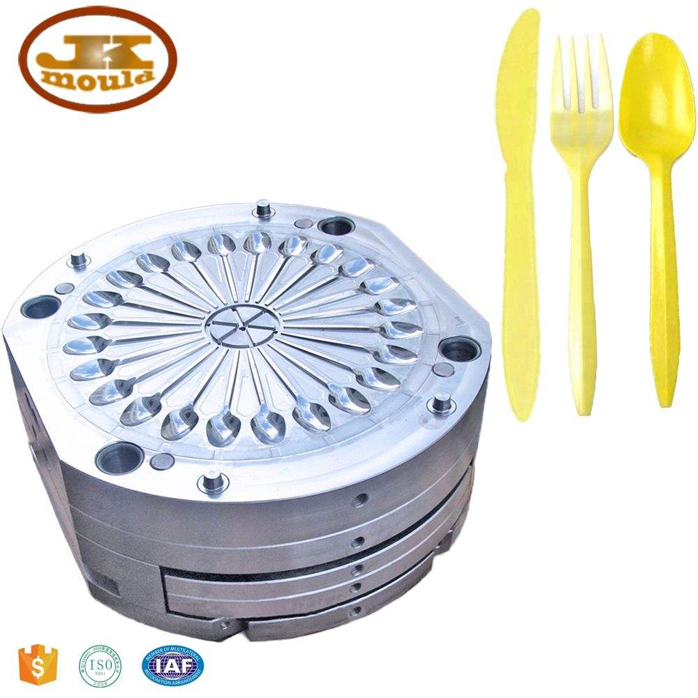 disposable tableware plastic spoon knife fork injection mould
