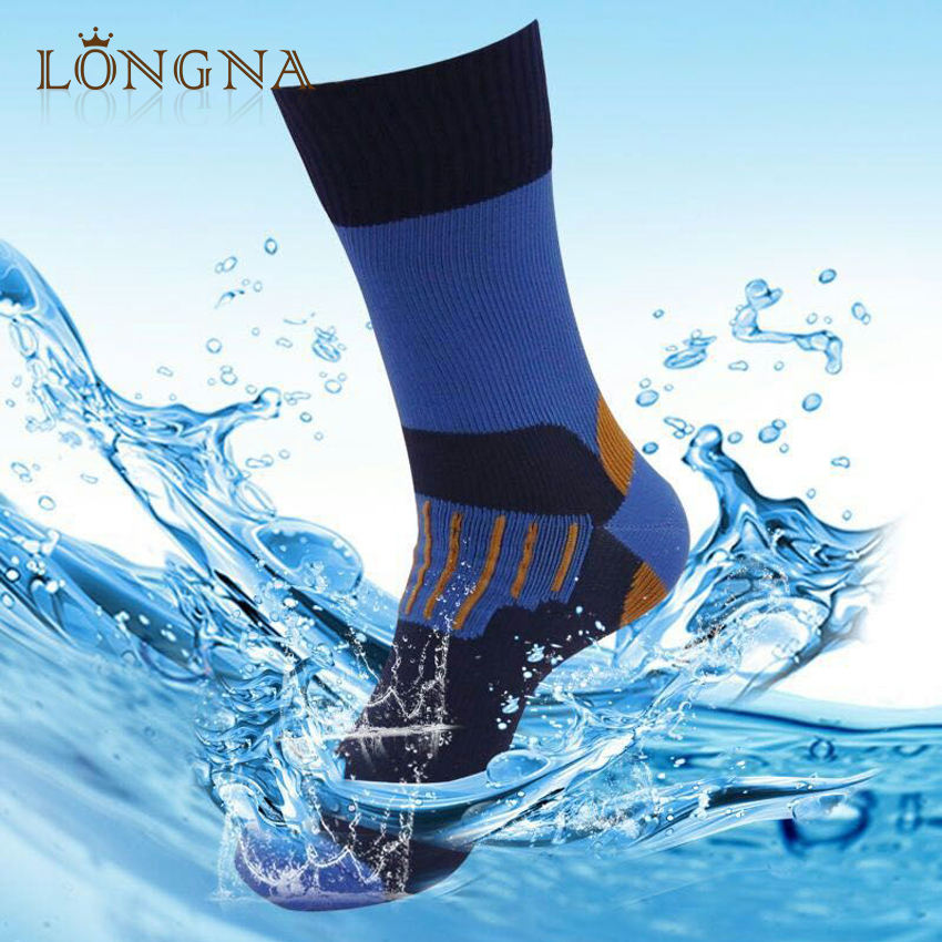 Bamboo Fiber Mens Waterproof Socks Mountaineering Riding Outdoor Cycling Socks