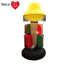 Newest design 6 foot tall inflatable led lamp from christmas story