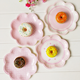 New pink flower petals disposable wedding birthday party decoration supplies tableware paper plate