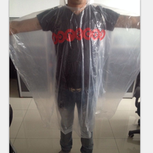 stock pe  rain poncho shipping Random color and logo and thickness