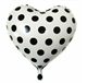 Wholesale 18inch Heart Valentine's Day Foil Balloon Dots Black Red White Balloon Heart Shape Balloon 2018