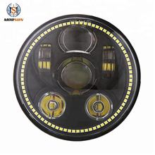 "5.75"" Led Round Headlight Headlamp Universal Led Headlamp 5 3/4 for harley Road Glide"