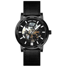 Chinese Custom Logo Japanese Transparent Luxury Sapphire Crystal Winner Skeleton Watch for Men