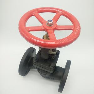 Cast Steel PN 16 Bellow Sealed Globe Valve DN80