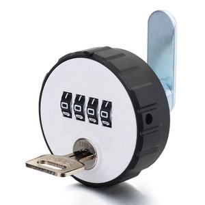 mechanical keyless tubular 4 digits code cam digital lock with master key