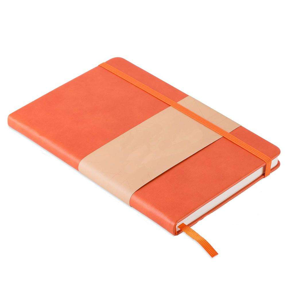 blank sublimation leather fitness diary orange diary journal agenda notebook