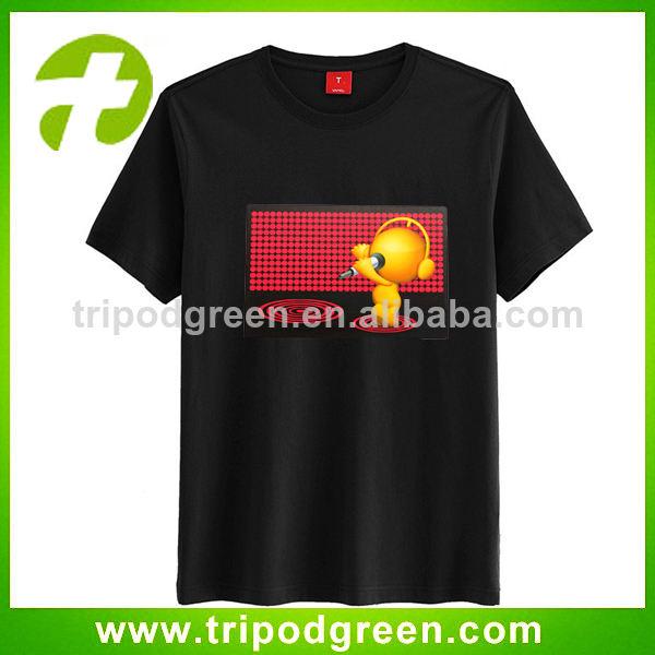 Hip hop de sonido activa/música/voz la iluminación hasta el ecualizador t- shirt