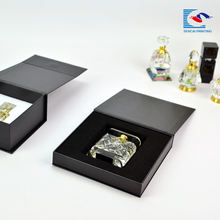High quality custom black cardboard perfume packaging boxes wholesale