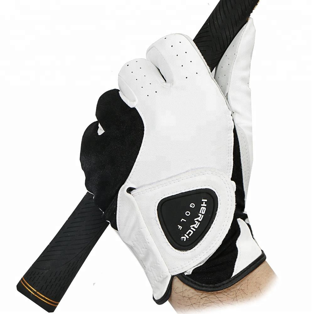Wholesale customization Cabretta Leather Skidproof and clingy wear-resisting men Left hand golf glove