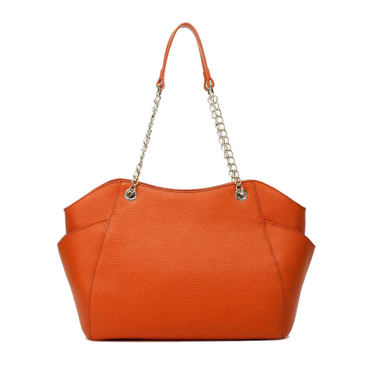 Gionar Brand Best Selling Products High Quality Orange PU Leather Bags Handbag Women