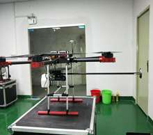 Flamethrower UAV drone sprayer for environmental protection .fire-breathing drone. Power spray fire removing obstacle uav.