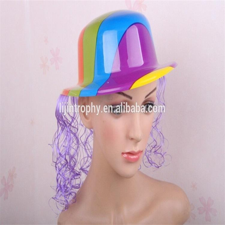 party pvc hats long wig hat supply