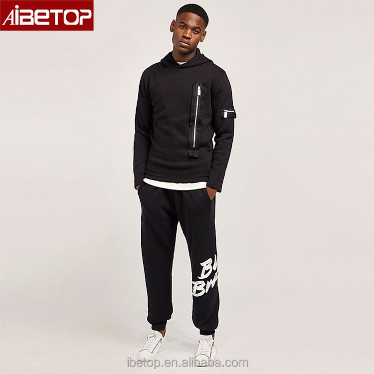 Wholesale personalized long sleeve private label hip hop streetwear men urban blank fitness sport hoodies with no labels