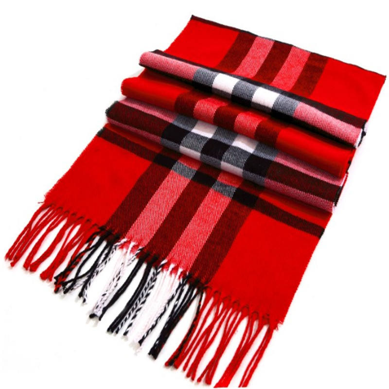 100% cashmere tassel scarf woman winter square lattice shawl thick wholesale scarf