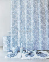 Printed shower curtain with Jacquard bath mat set, elegance grey rose design shower curtain and bath accessories bathroom set
