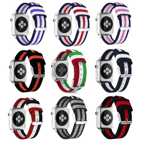 nylon for apple watch bands Fine Woven Nylon Adjustable Replacement Band Sport Strap for iwatch