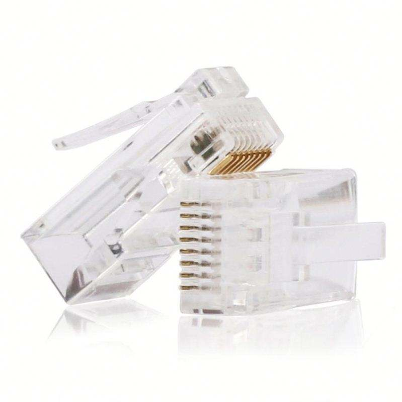 Commercio all'ingrosso RJ45 Connettore Cat5E Cat5 Crimp Modulare Ethernet Spina del Cavo di Rete 8P8C