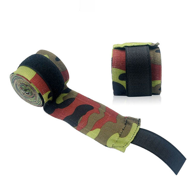 hight quality elastic mma boxing bandages custom logo camouflage boxing hand wraps