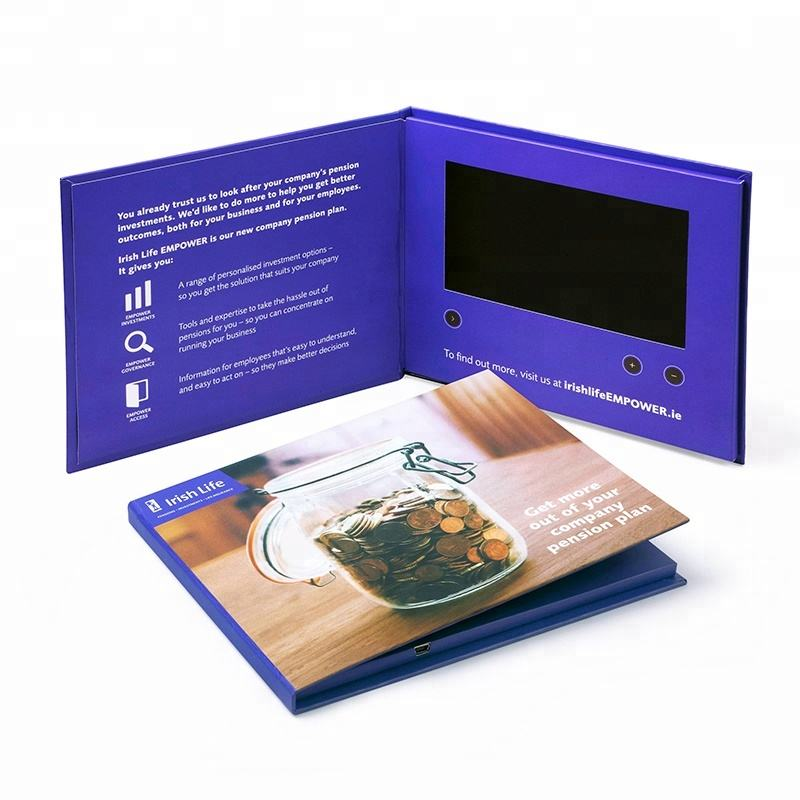Nuovo Arrivo HD Schermo LCD Video <span class=keywords><strong>Brochure</strong></span>, Video Libro, il Video in Stampa